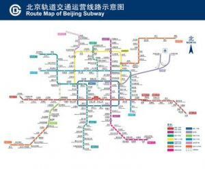 北京地铁交通示意图