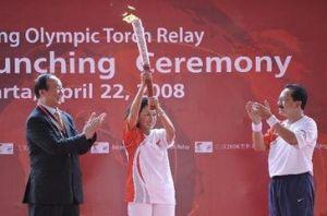 北京奥运圣火在雅加达传递
