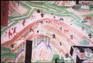 壁画:丝绸之路上商队