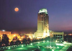 夜色中的裕达国际贸易中心