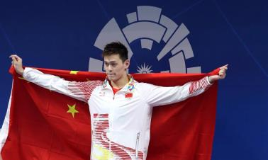 Sun Yang adds 800m freestyle title, Ikee collects two golds