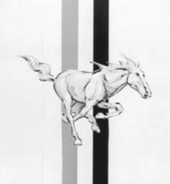 最早的Mustang车标草图