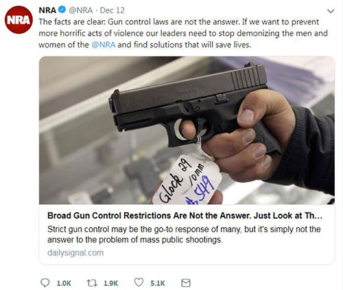 美国2017年近4万人死于枪下 数字创40年新高