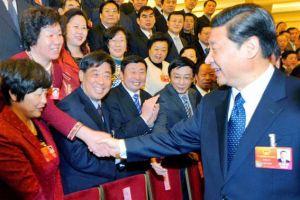 中共中央总书记、国家主席习近平亲切接见全国人大代表、晨鸣集团副总经理李雪芹