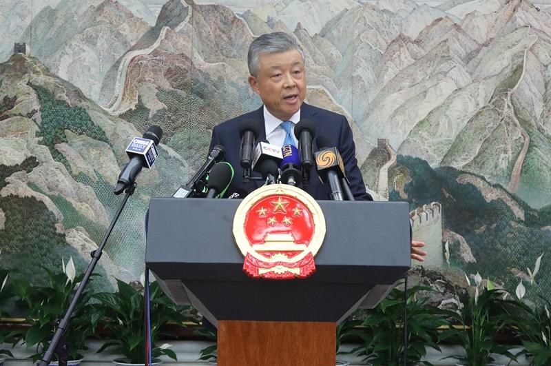 中国驻英大使刘晓明:望西方媒体客观公正地报道香港局势