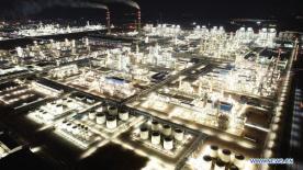 Aerial view of NW China's Ningxia