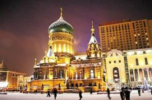 哈尔滨冬季街景