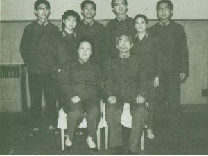 1984年,王新亭与夫人田维新及子女