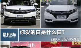 你爱的白是什么白? 四款入门级SUV推荐