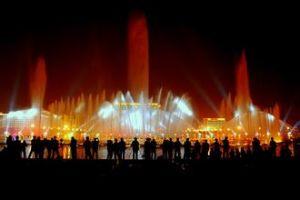 音乐喷泉实景