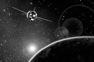 东方红一号卫星模拟图资料图片