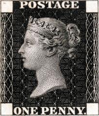 世界上首枚邮票——黑便士