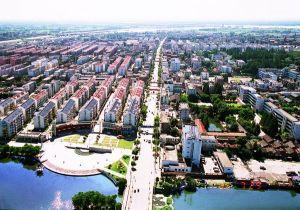 城区鸟瞰图