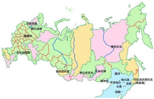 俄罗斯地图地图