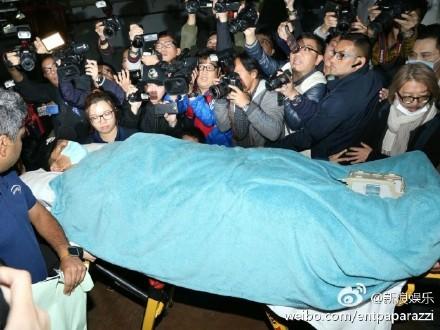 刘德华被送往香港医院