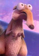 小松鼠、鼠奎特  演员 克里斯·韦奇  它坚持不懈地为自己的松果而战,强大的精神毅力也令人钦佩。每次只是不断用哼哼唧唧来回应自己遭到的各种重创。