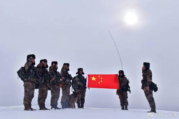 战位有我,放心!请收下这份来自中国军人的新年祝福