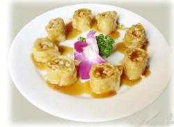 豆油皮菇卷